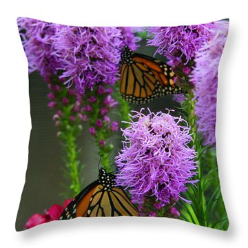 Winged Beauties Throw Pillow