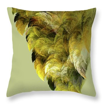 Winged Throw Pillow by Bonnie Bruno
