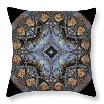 Winged Creatures In A Star Kaleidoscope #1 Throw Pillow
