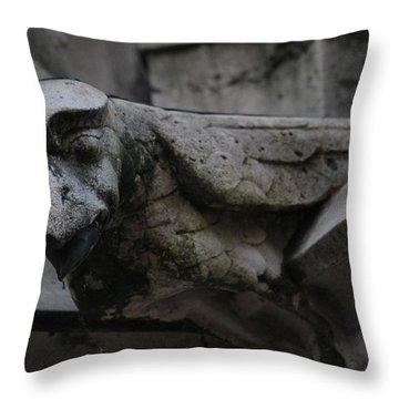 Winged Gargoyle Throw Pillow