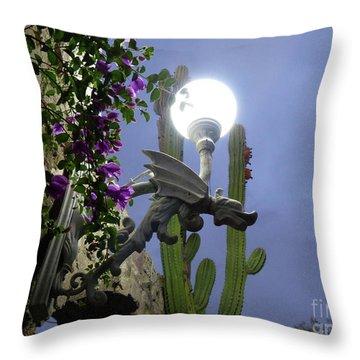 Winged Gargoyle In El Fuerte Throw Pillow
