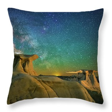 Winged Guardians Throw Pillow