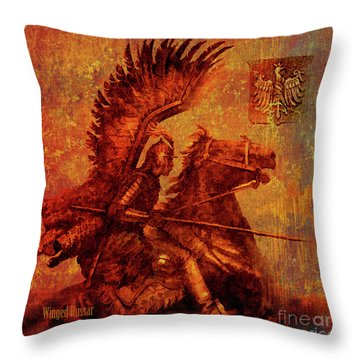 Winged Hussar 2016 Throw Pillow