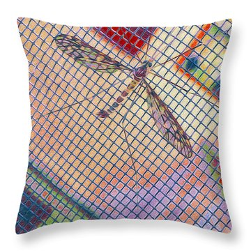 Winged Insect. Throw Pillow