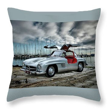 Winged Merc Throw Pillow by Steven Agius