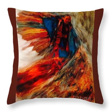 Winged Ones Throw Pillow by FeatherStone Studio Julie A Miller