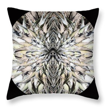 Winged Praying Figure Kaleidoscope Throw Pillow