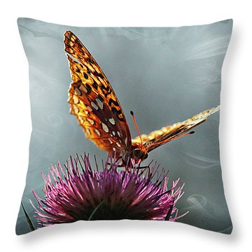 Throw Pillow featuring the photograph Winged Things by Jessica Brawley