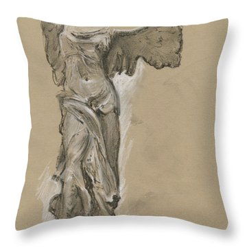 Winged Vicory Of Samothrace Throw Pillow