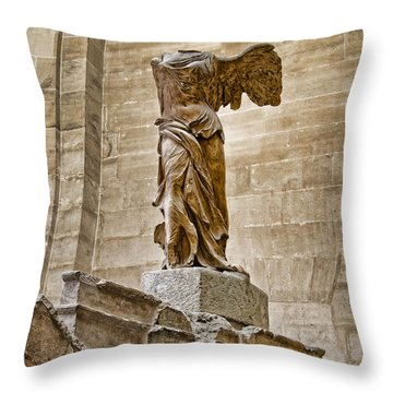 Winged Victory Throw Pillow by Jon Berghoff