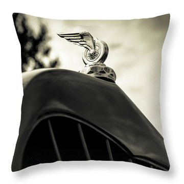 Winged Wheel Throw Pillow by Caitlyn Grasso
