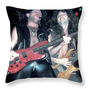 Winger Kip Winger And Reb Beach Throw Pillow