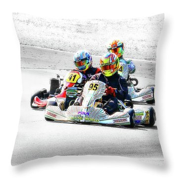 Wingham Go Karts 04 Throw Pillow