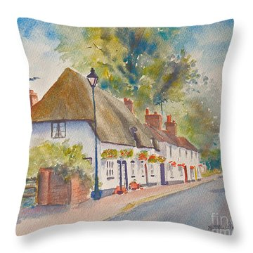 Throw Pillow featuring the painting Wingham Nr.canterbury by Beatrice Cloake