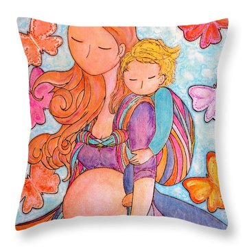 Wings Throw Pillow by Gioia Albano