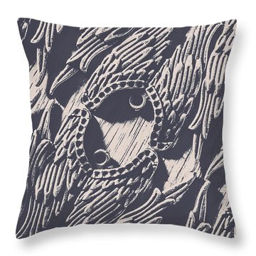 Wings Of Classical Artform Throw Pillow