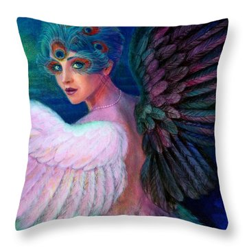Wings Of Duality Throw Pillow