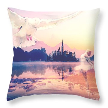 Wings Of Grace Throw Pillow