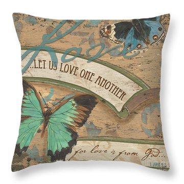 Wings Of Love Throw Pillow by Debbie DeWitt