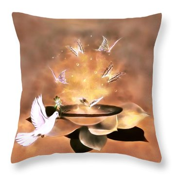 Wings Of Magic Throw Pillow