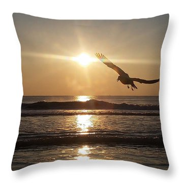 Wings Of Sunrise Throw Pillow
