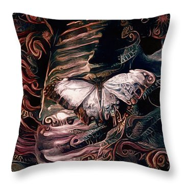 Wings Of The Night Throw Pillow by Susan Maxwell Schmidt