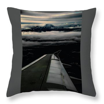 Wings Over Rainier Throw Pillow