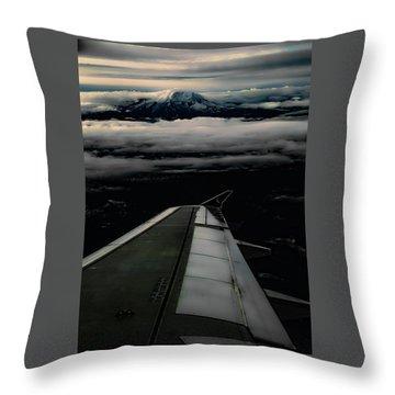 Wings Over Rainier Throw Pillow by Jeffrey Jensen