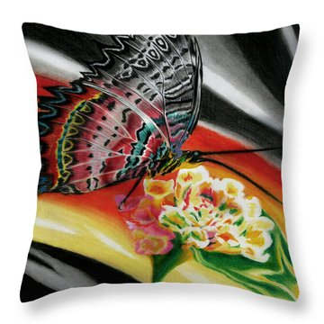 Throw Pillow featuring the painting Transforming Winds     by Peter Piatt