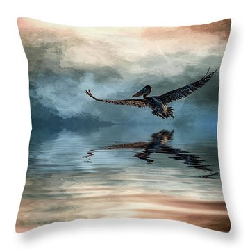 Wings Up Throw Pillow by Cyndy Doty