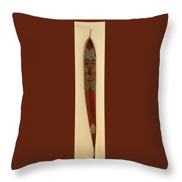 Winky The Palm Frond Throw Pillow by Deborah Boyd