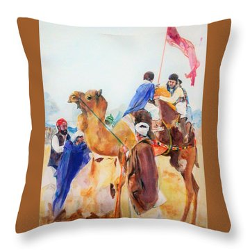Winning Celebration Throw Pillow by Khalid Saeed