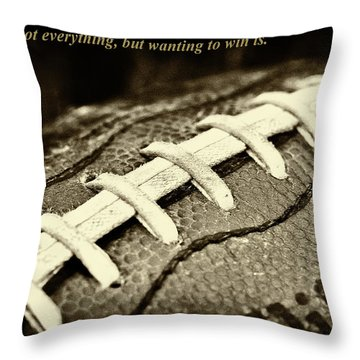 Winning Is Not Everything - Lombardi Throw Pillow by David Patterson
