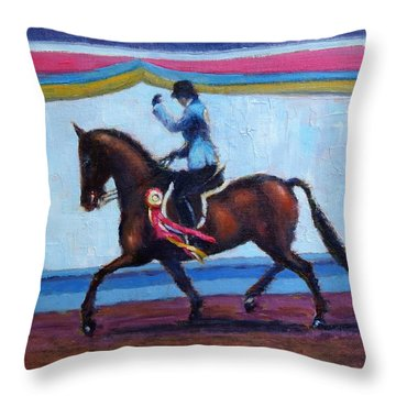 Winning Salute Throw Pillow