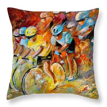 Winning The Tour De France Throw Pillow