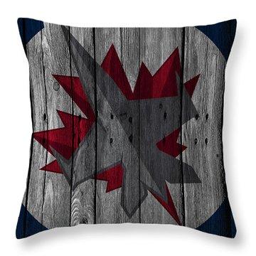 Winnipeg Jets Wood Fence Throw Pillow