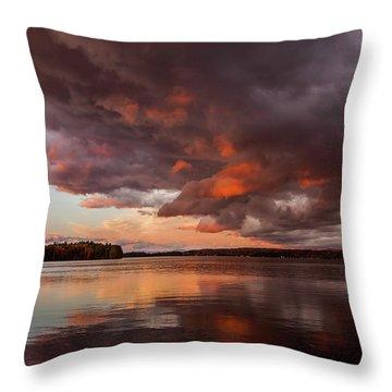 Winnisquam Sunset Throw Pillow