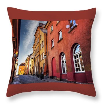 Throw Pillow featuring the photograph Winsome Warsaw  by Carol Japp