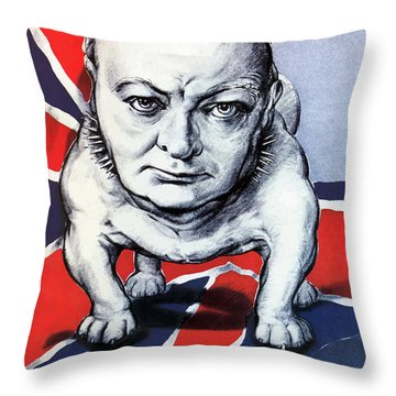 Winston Churchill Holding The Line Throw Pillow