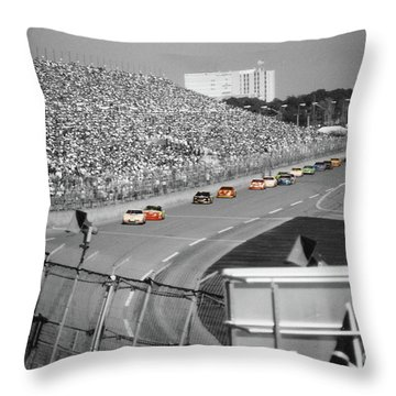 Winston Cup Racing In Daytona 1995 Throw Pillow