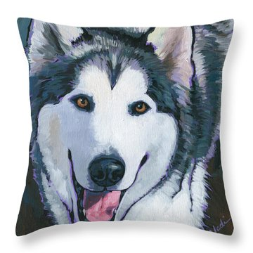 Winston Throw Pillow by Nadi Spencer