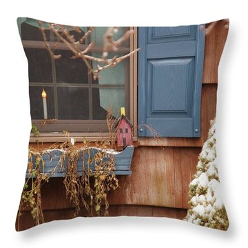 Winter - A Winters Morning Throw Pillow by Mike Savad