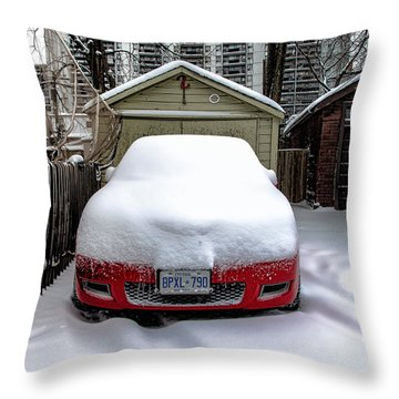 Throw Pillow featuring the photograph Winter-4 by Joseph Amaral