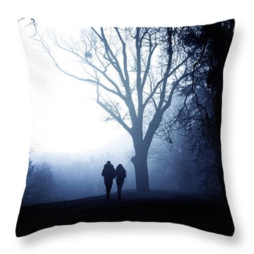 Winter Afternoon II Throw Pillow