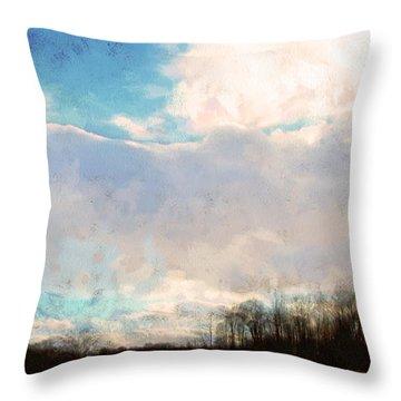 Winter Afternoon Sky Throw Pillow