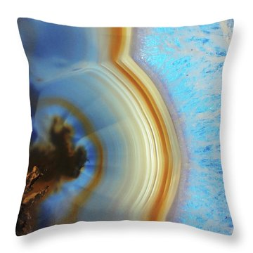 Winter Agate Throw Pillow
