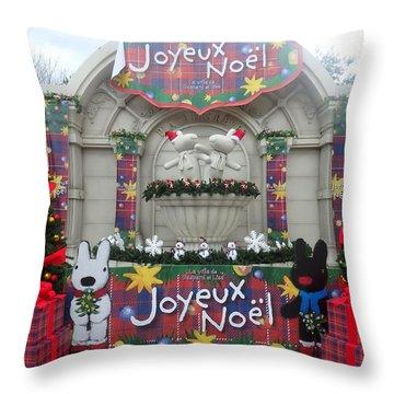 Winter Amusement Park Throw Pillow