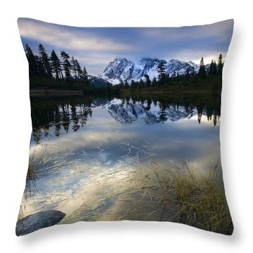 Winter Approaches Throw Pillow by Mike  Dawson