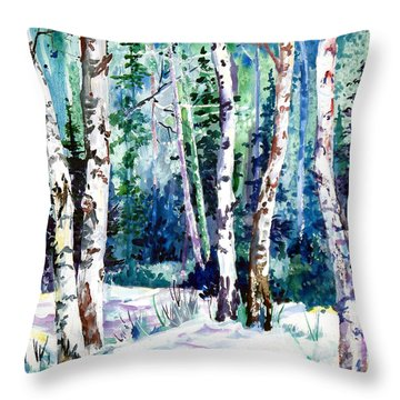 Winter Aspen Throw Pillow