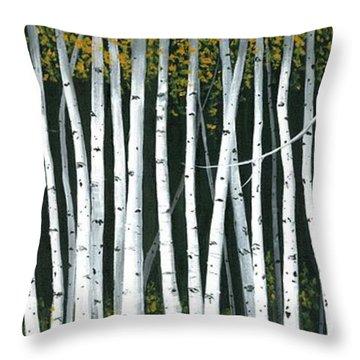 Winter Aspen 3 Throw Pillow by Michael Swanson